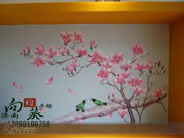 墙体手绘 济南向日葵手绘作品 家居设计图库 效果图,实景图,样板