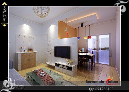 经典小户型旧房改造 影视墙 作品 家居设计图库 效果图,实景图,样高清图片
